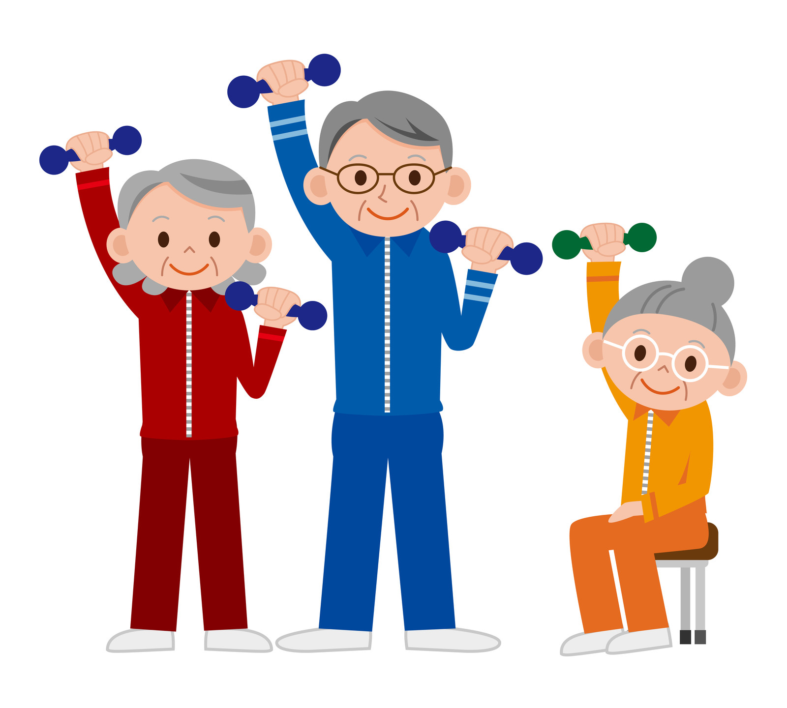 Image result for clipart - seniors exercising