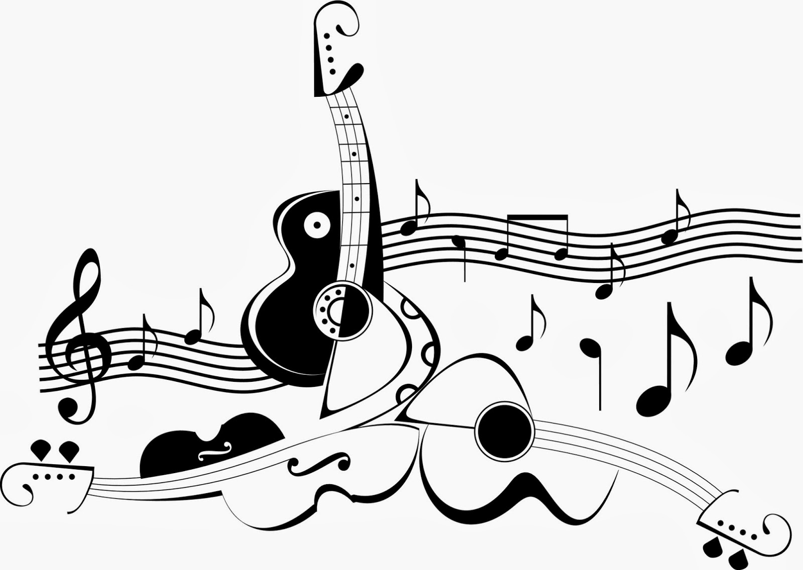 Tattoo Music Notes And Guitar Tattoos