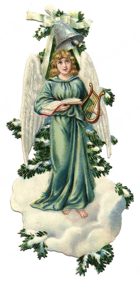 Vintage Angels Clip Art Christmas Angels Christmas Image Angels 13