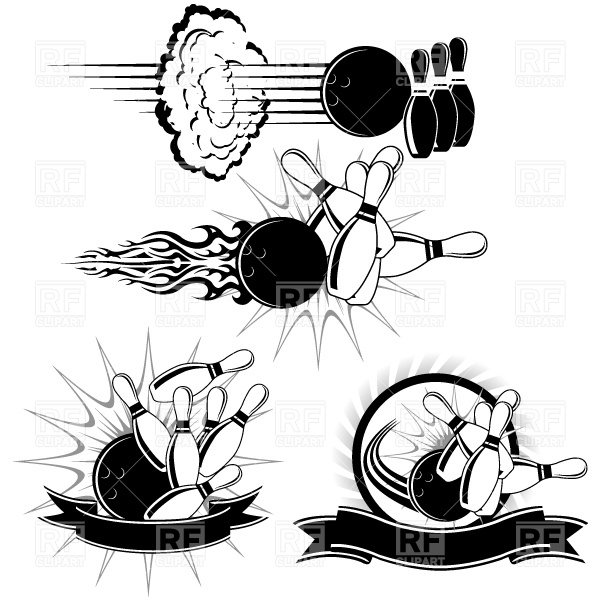 Bowling Strike Sport And Leisure Download Royalty Free Vector Clip