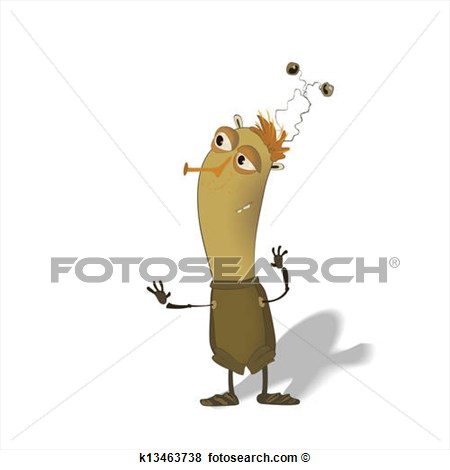Clip Art   Funny Thin Bug Cartoon  Fotosearch   Search Clipart