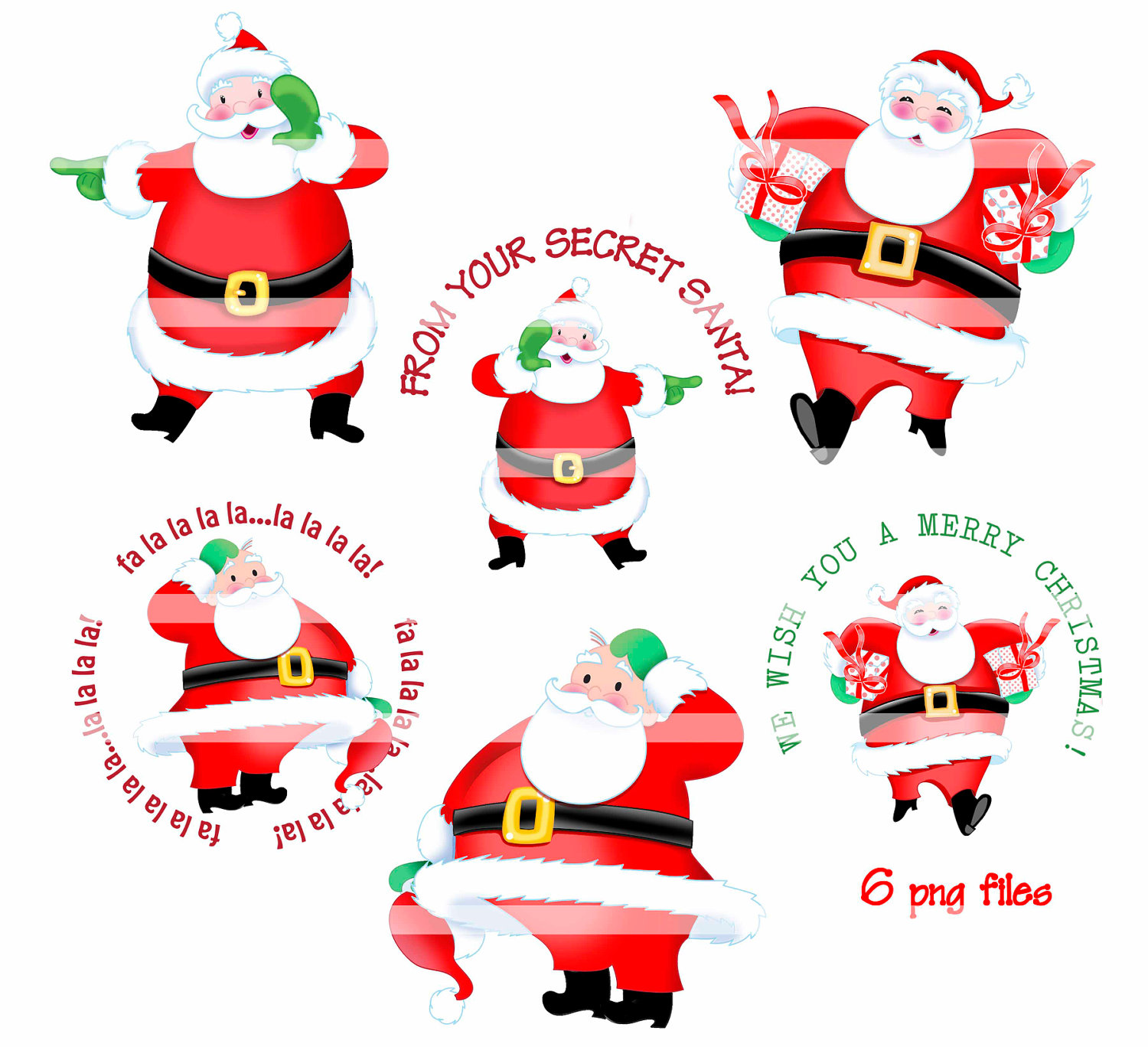 Clip Art Secret Santa Clip Art secret santa clipart kid digital instant download by thedigitalchick