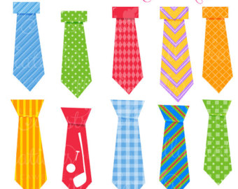 For Dad Cute Digital Clipart   Commercial Use Ok   Tie Clipart Tie