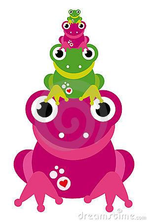 Pink Frog Clip Art