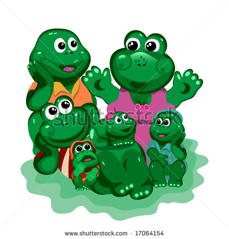 Frogs  Frog Tells His Mom A Happy Family And The Young At The White