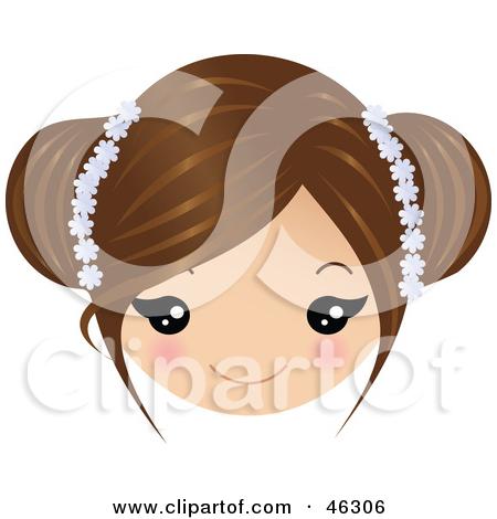 Girl Brown Hair Clipart