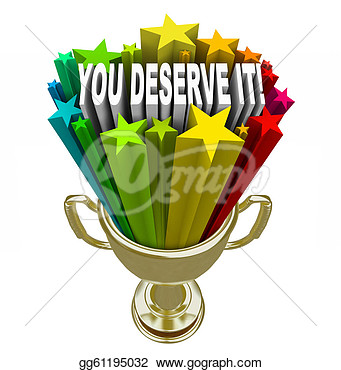 Gold Trophy Reward Recognition  Clipart Drawing Gg61195032   Gograph