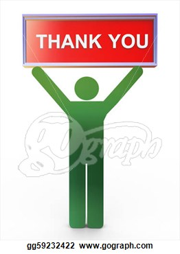 Man Holding Object With Text  Thank You   Clipart Drawing Gg59232422
