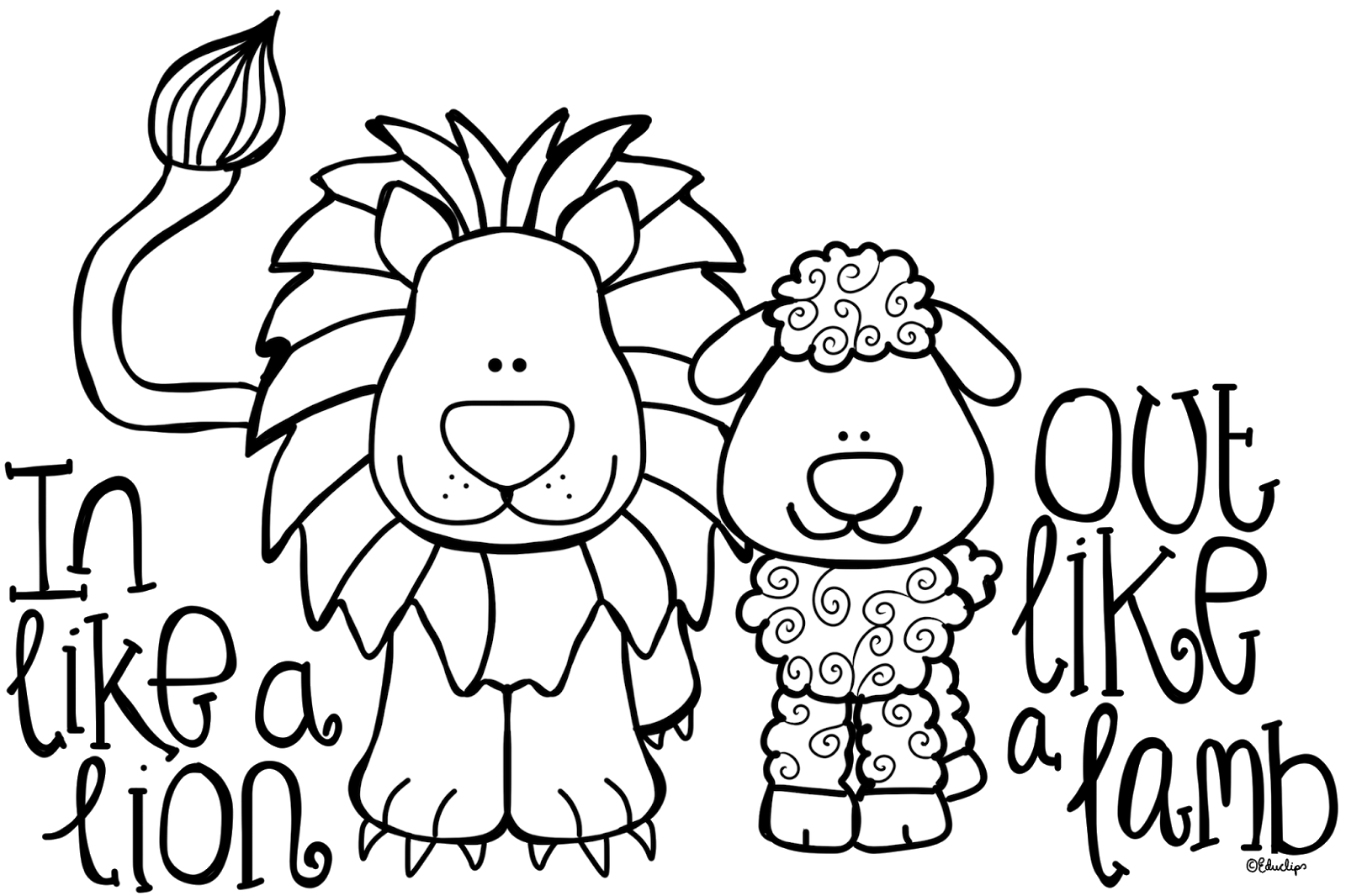 March Lion Clip Art A Lion Out Like A Lamb