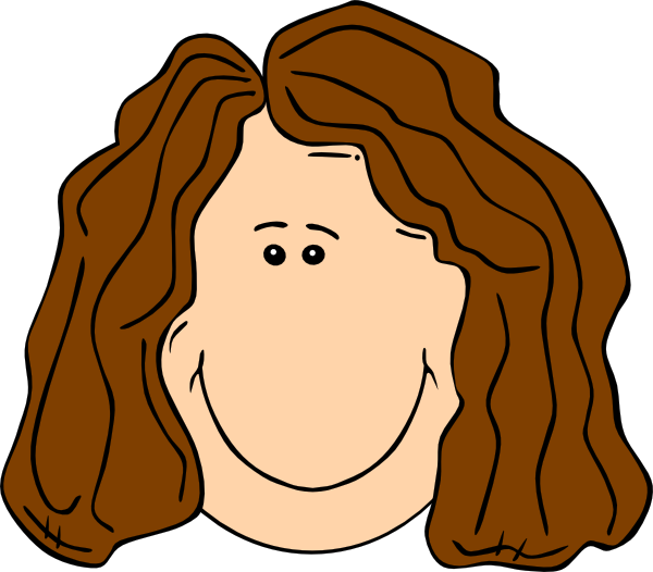 Smiling Brown Hair Lady Clip Art At Clker Com   Vector Clip Art Online
