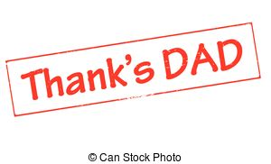 Thank Dad   Stamp With Text Thank Dad Inside Vector