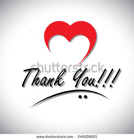 Thank You Handwritten Words Vector With Heart Or Love Icon  This Also