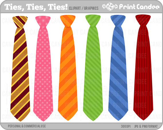 Ties Ties Ties   Digital Clip Art   Personal And Commercial Use