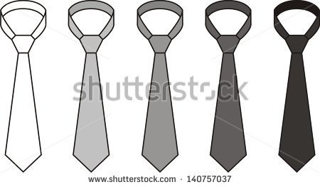 Vector Illustration  Set Of Men S Tie  Different Colors  White Grey