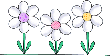 Daisies Clip Art Image   White Daisies With Pastel Centers