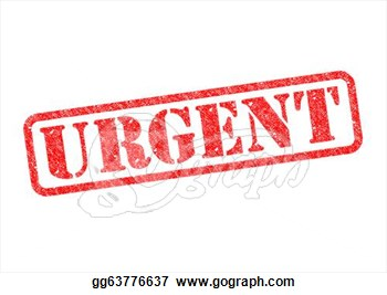 Drawing    Urgent  Red Rubber Stamp Over A White Background  Clipart