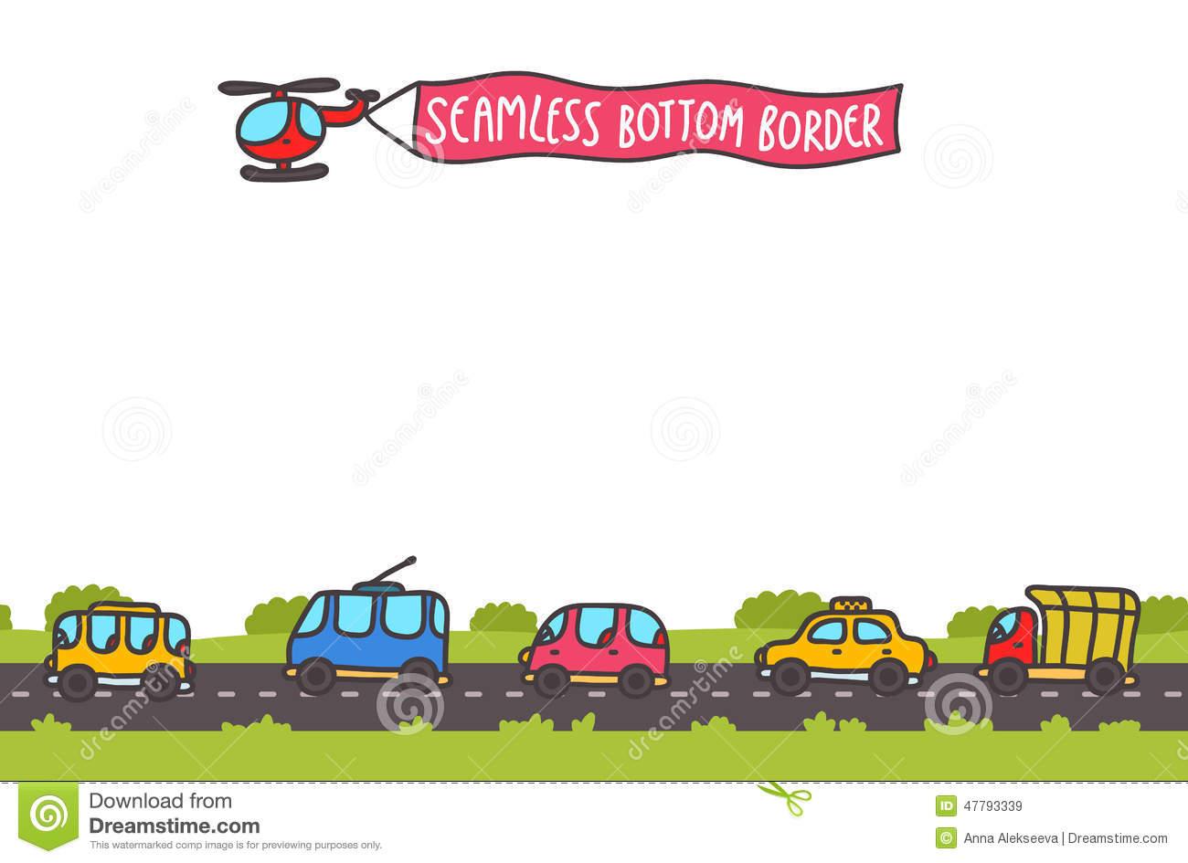 Transportation clipart border