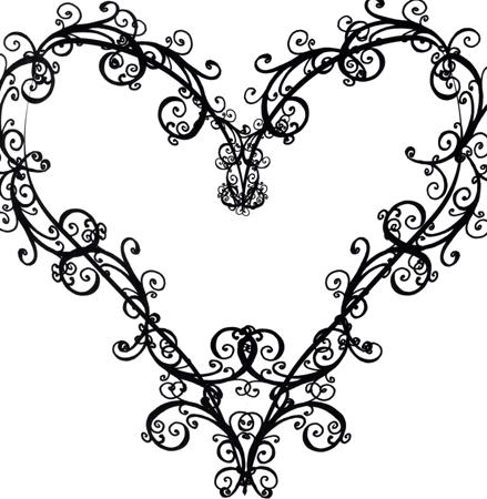 Fancy Heart Clipart - Clipart Suggest
