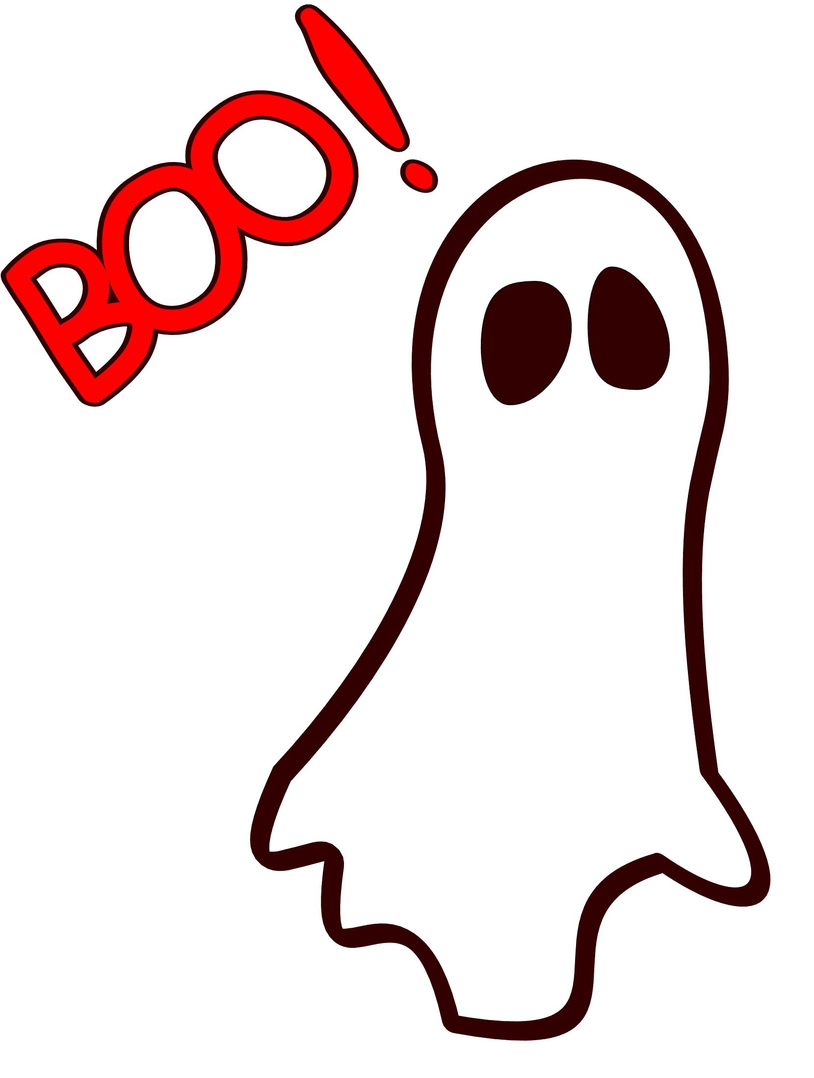 Ghost Saying Boo   Cliparts Co