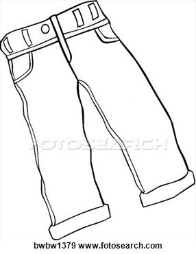 Jeans Clip Art Black And White #YzEU4C - Clipart Kid