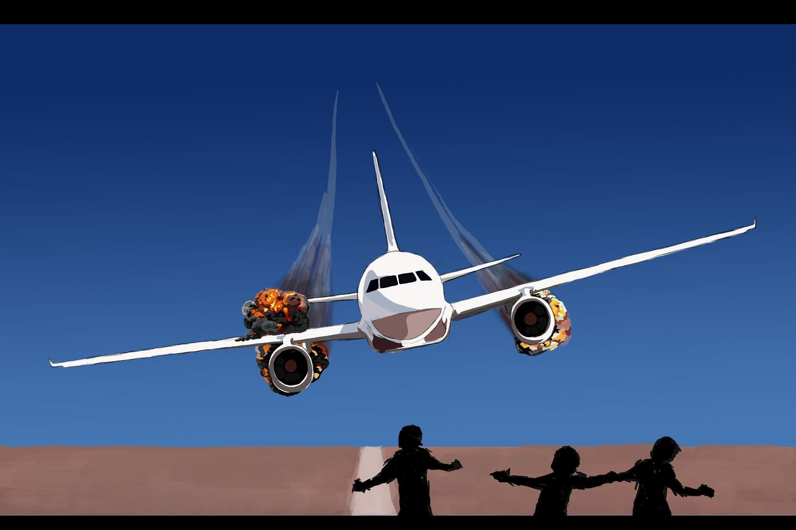 Plane Crash Cli... Clipart Stressed