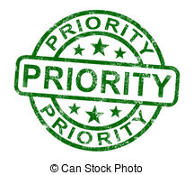 Priority Stamp Showing Rush And Urgent Service Clipart
