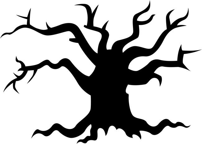 Spooky Tree Clipart - Clipart Kid