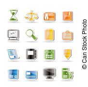 Simple Business And Office Icons Vector Icon Set