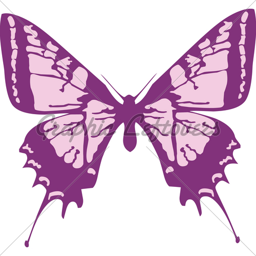 Simple Butterfly Graphic Design Clipart In Vect