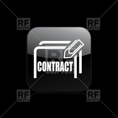 Simple Contract Icon With Sheet Paper Clip Download Royalty Free
