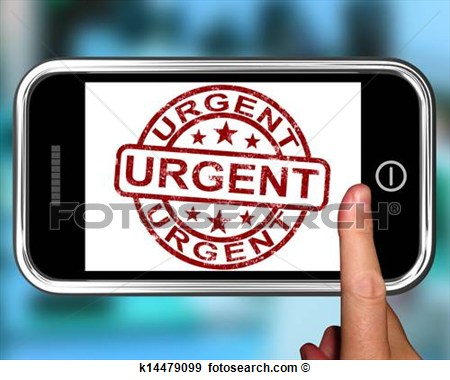 Smartphone Showing Immediate Need  Fotosearch   Search Vector Clipart