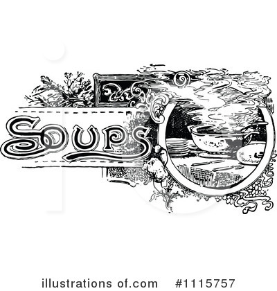 Soup Clipart  1115757 By Prawny Vintage   Royalty Free  Rf  Stock