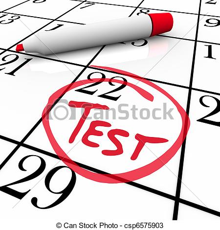 Test Day Circled On Calendar   Nervous For Exam   The 22nd