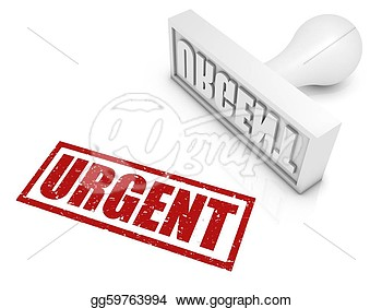 Urgent Red Rubber Stamp  Part Of A Rubber Stamp Series  Clipart