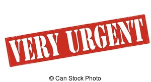 Very Urgent   Rubber Stamp With Text Very Urgent Inside