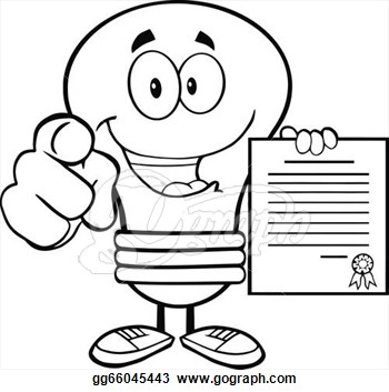 With Finger And Holding A Contract Clipart Illustrations Gg66045443