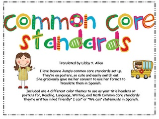 00 Common Core Standards In Spanish With Format From Deanna Jump