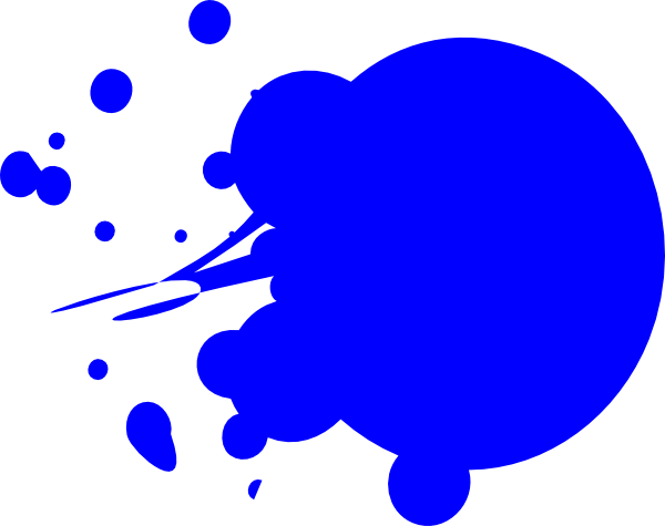 Blue Dot Splat Clip Art At Clker Com   Vector Clip Art Online Royalty