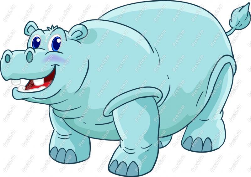 free clip art hippo cartoon - photo #36