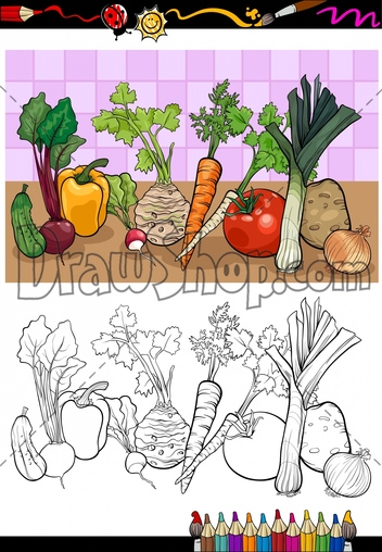 Drawshop   Royalty Free Cartoon Vector Stock Illustrations   Clip Art