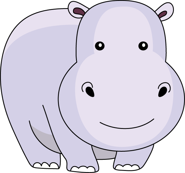 Funny Hippo Clipart - Clipart Suggest