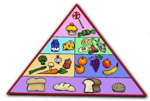 Groups In Total This Healthy Food Pyramid Shows These Six Food Groups