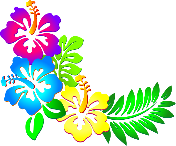 Hibiscus Lei Clip Art Vector Online Royalty Free And Public
