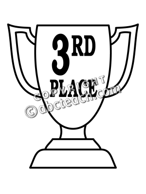 Of 1 Coloring Page Coloring Award Clip Art Coloring Page 3rd Thirds