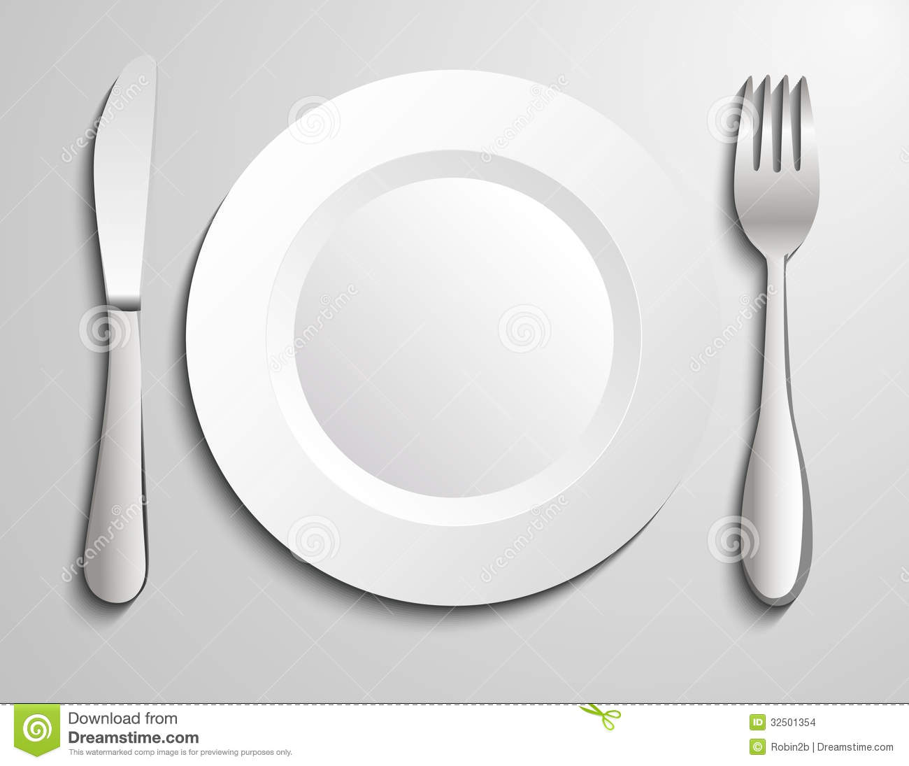 Plate Knife And Fork Stock Images   Image  32501354