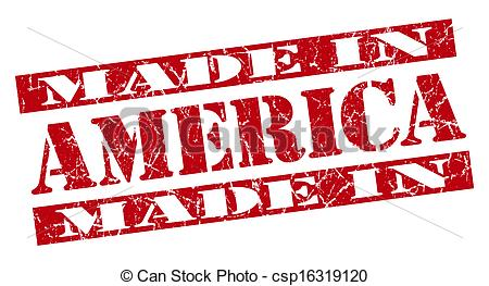 Art Of Made In America Grunge Red Stamp Csp16319120   Search Clipart