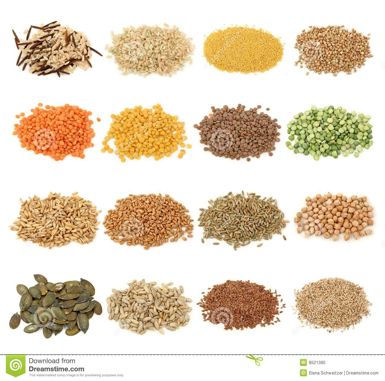 Cerealgrain And Seeds Royalty Free Stock Photo   Image  8521395