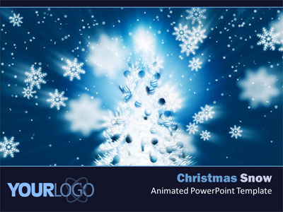 Christmas Snow   A Powerpoint Template From Presentermedia Com