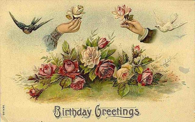 vintage happy birthday clipart  clipart kid, Birthday card