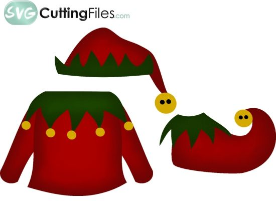 Elf Life  3 Pc Clothing    Christmas Silhouettes Svg S Graphics   Pin